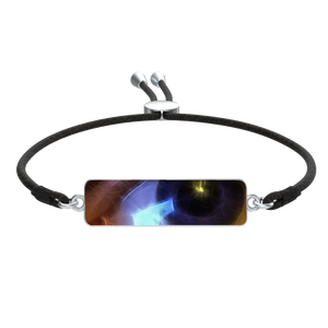 Eye of The Artist Bracelet Cord Tie Rectangle Pendant