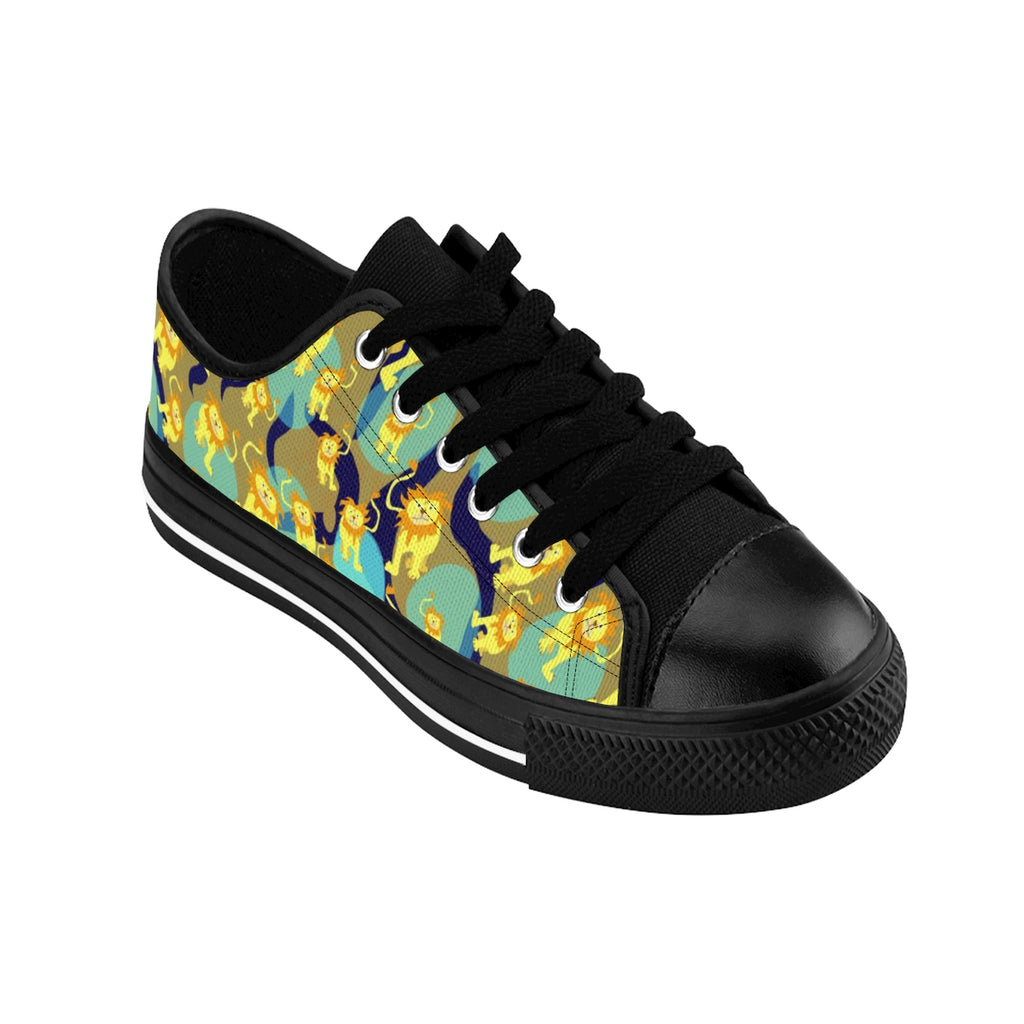 Lions Pattern Men's Sneakers