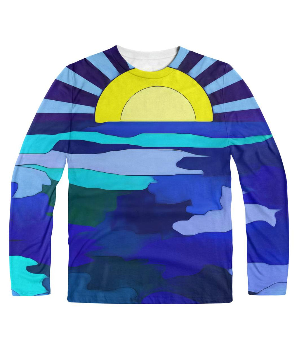 Sunset On The Lake Longsleeve Sublimation Long Sleeve