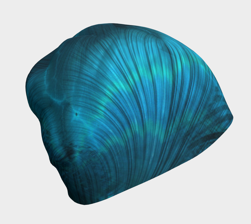Blue Metallic Fractal Hat
