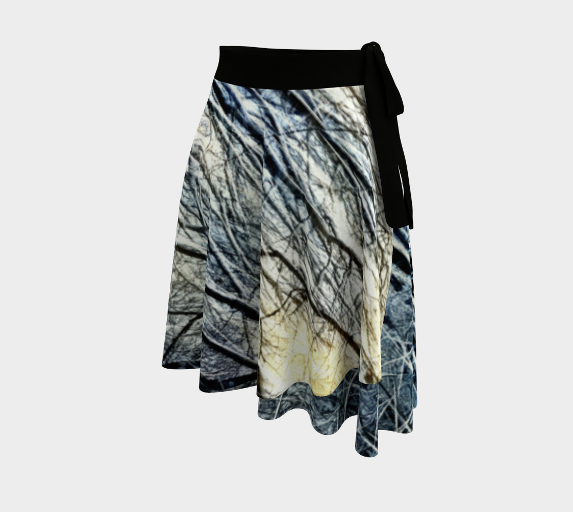 4 Oclock Winter Landscape Wrap Skirt