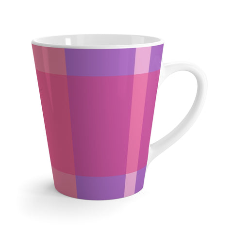 Pink Plaid Latte mug