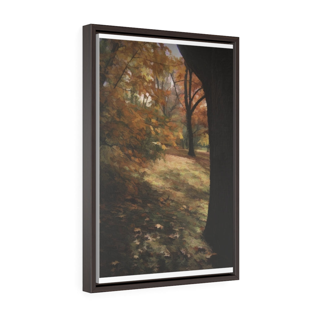 Fall At Home Vertical Framed Premium Gallery Wrap Canvas