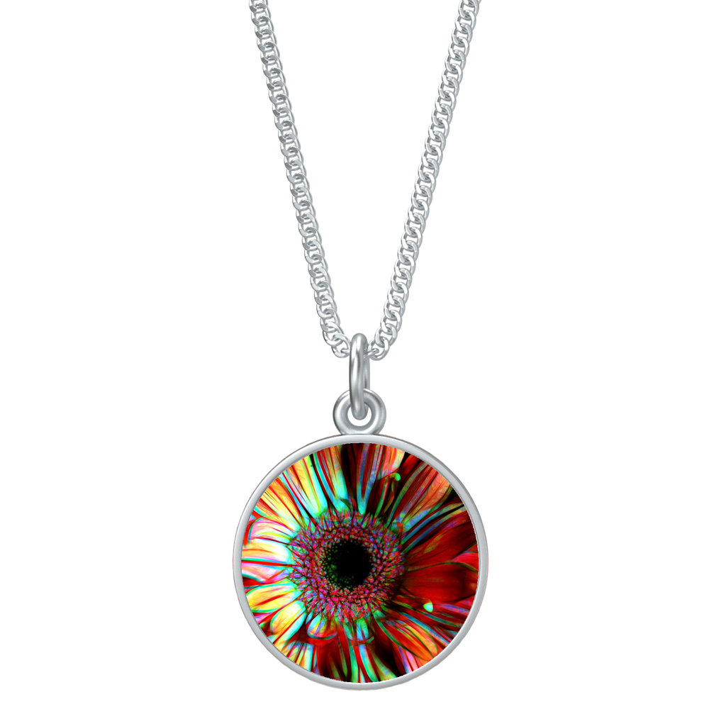 Flowers 133a Round Necklace
