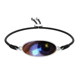 Eye of The Artist Bracelet Cord tie Oval Medallion