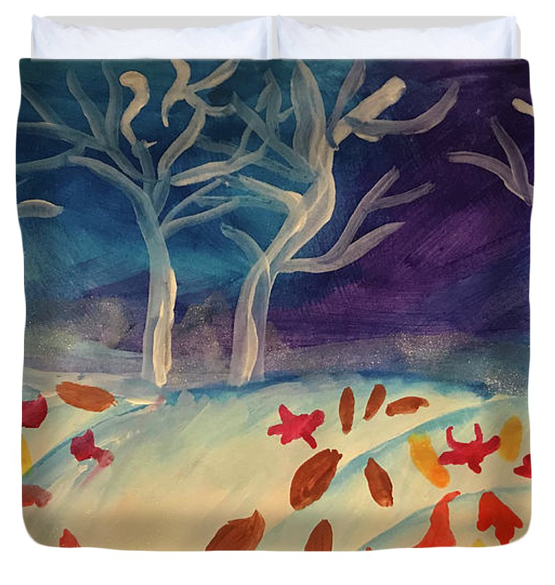 First Snow Came Early - Duvet Cover