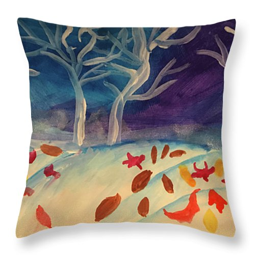 First Snow Came Early - Throw Pillow - expressive-flower-art-goods.myshopify.com