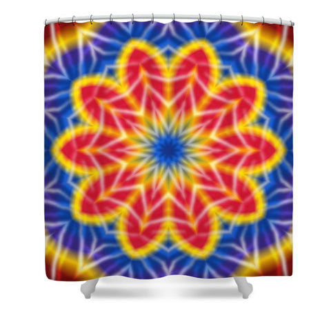 Flower Tie Dye Kaleidoscope - Shower Curtain
