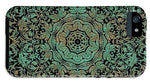 Green Copper Floral Kaleidoscope - Phone Case