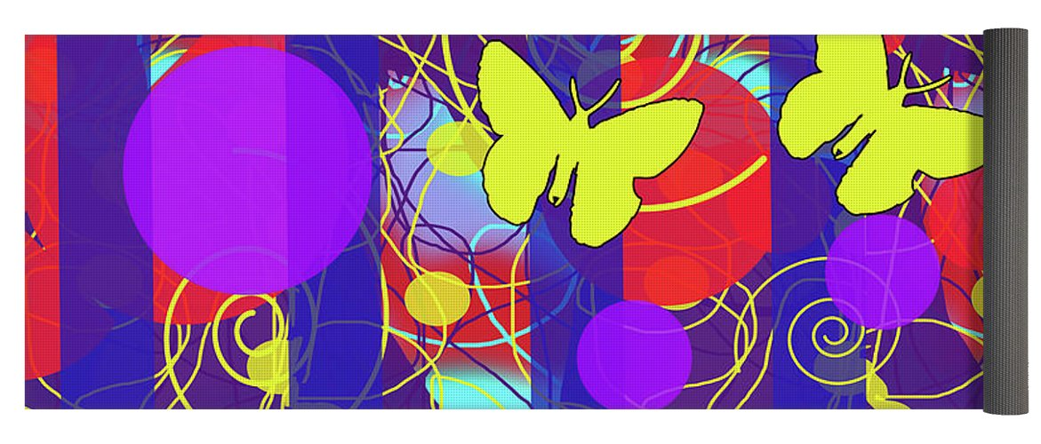 Happy Spring Pattern - Yoga Mat
