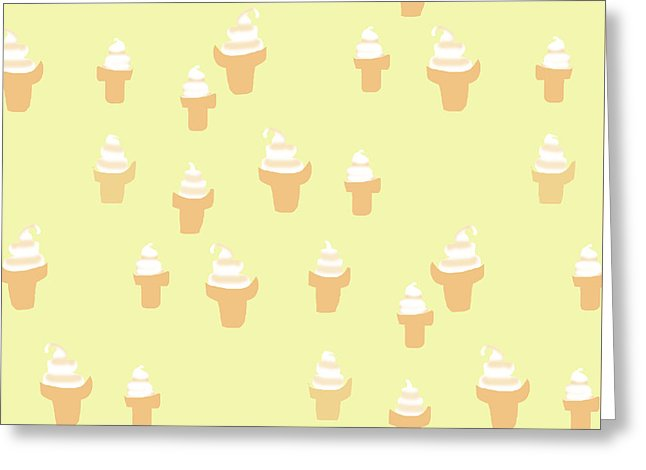 Ice Cream Cone Pattern - Greeting Card