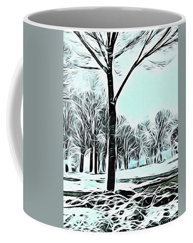 Lakefront In Winter - Mug