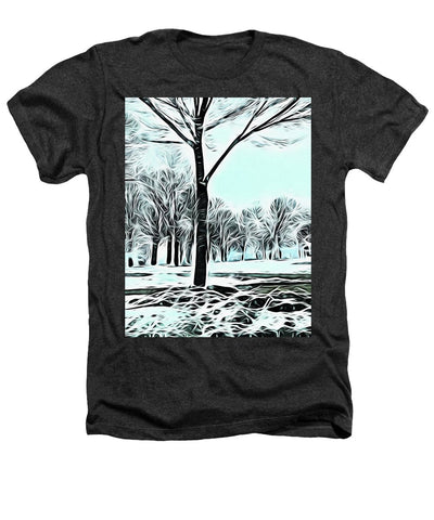 Lakefront In Winter - Heathers T-Shirt