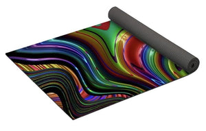Liquid Rainbow Fractal 24 - Yoga Mat