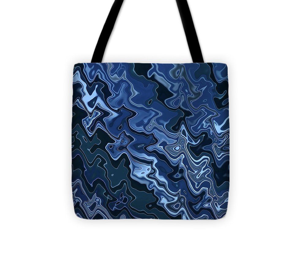 Melted Blue Chrome - Tote Bag