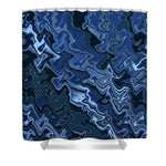 Melted Blue Chrome - Shower Curtain