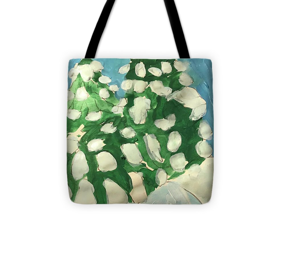 Midday Snowy Pines - Tote Bag - expressive-flower-art-goods.myshopify.com