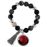Red Rose Reflection Lyric Bracelet