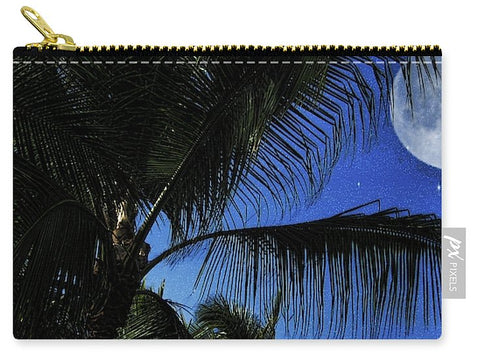 Moon Over Palm Trees - Carry-All Pouch