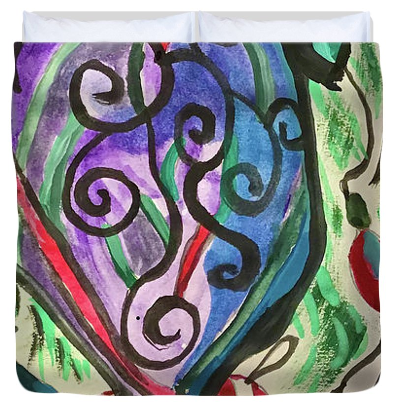 My Favorite Ornament On The Tree This Year - Duvet Cover - expressive-flower-art-goods.myshopify.com