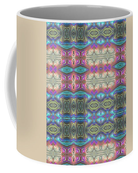 Mystic Blue With Pink - Mug