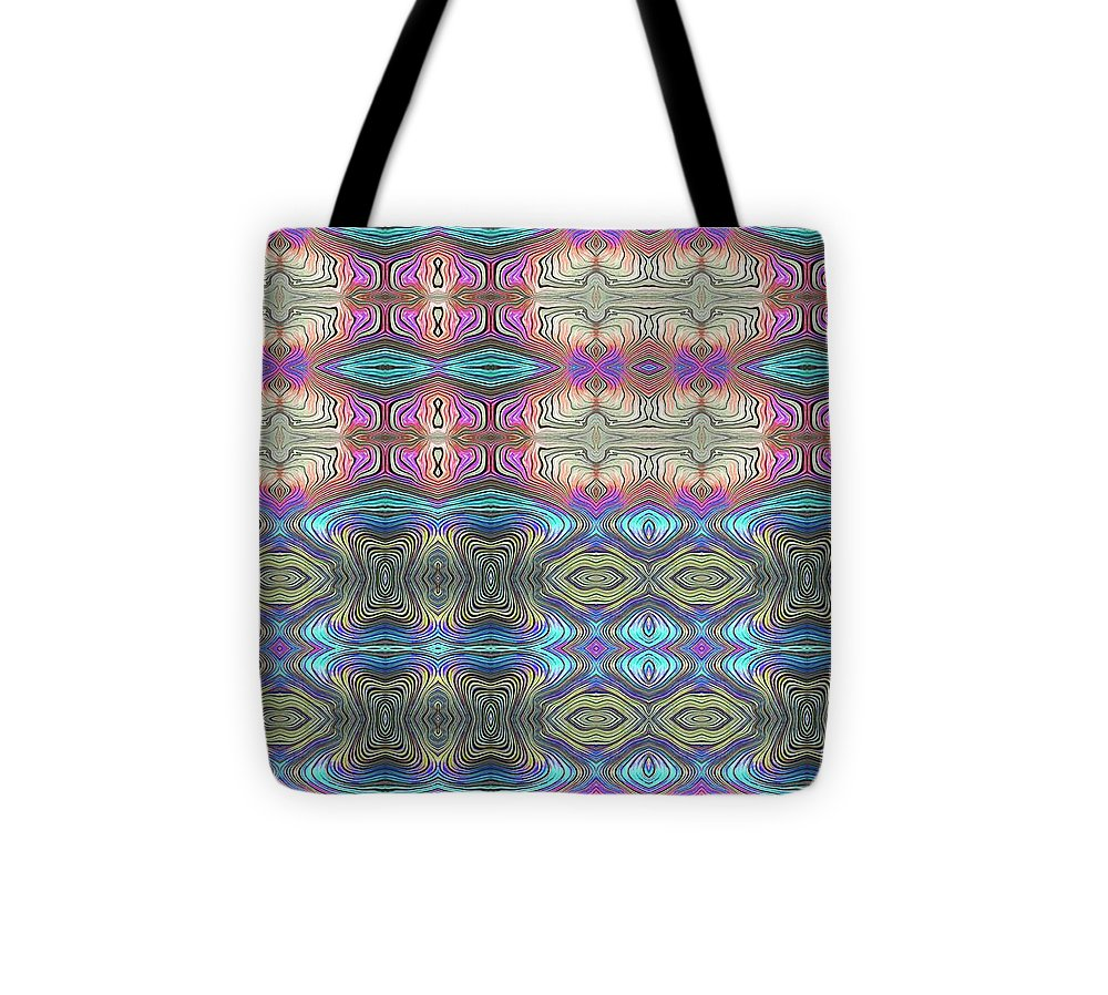 Mystic Blue With Pink - Tote Bag