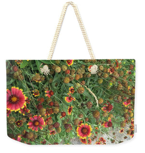 Orange Flower Garden - Weekender Tote Bag