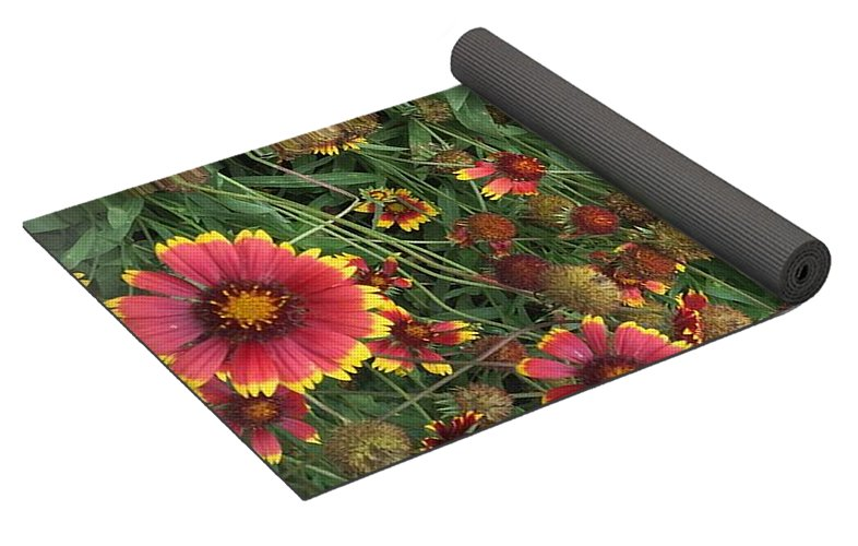 Orange Flower Garden - Yoga Mat