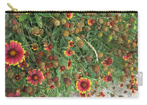 Orange Flower Garden - Carry-All Pouch
