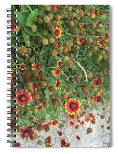 Orange Flower Garden - Spiral Notebook