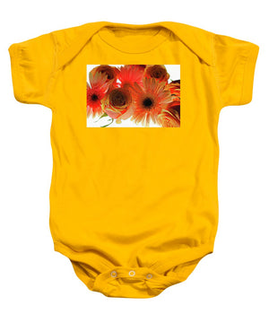 Orange Rose Pink Daisy - Baby Onesie