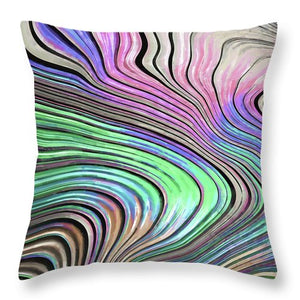 Pastel Pearl Wave - Throw Pillow