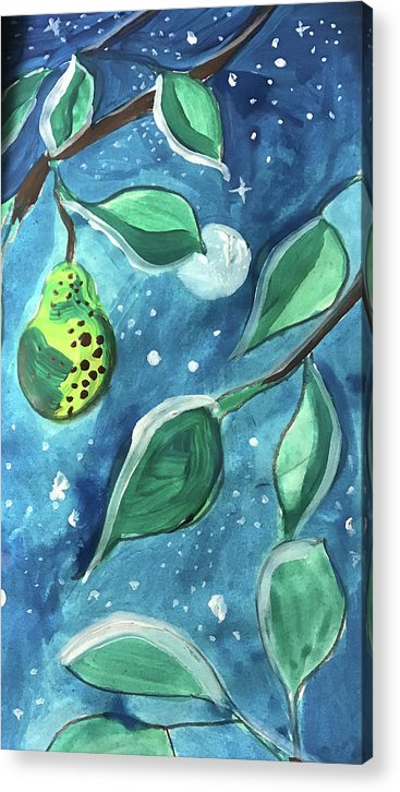 Pear Tree Under The Stars - Acrylic Print - expressive-flower-art-goods.myshopify.com