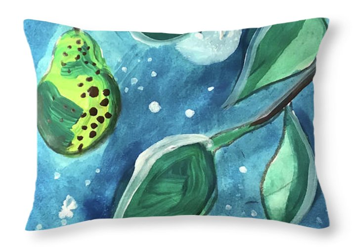 Pear Tree Under The Stars - Throw Pillow - expressive-flower-art-goods.myshopify.com