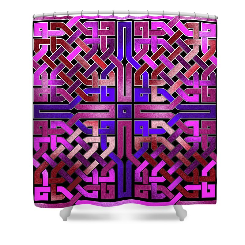Pink Celtic Knot Square - Shower Curtain