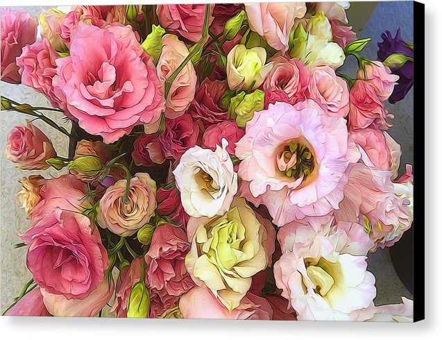 Pink Lisianthus - Canvas Print