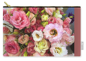 Pink Lisianthus - Carry-All Pouch