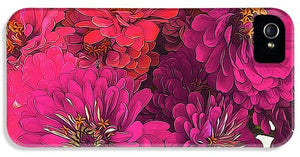 Pink Zinnias - Phone Case - expressive-flower-art-goods.myshopify.com