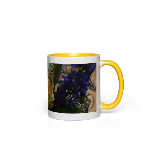 Engagement Flowers Accent Mugs