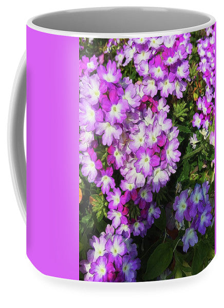 Purple And White Flowers - Mug - expressive-flower-art-goods.myshopify.com