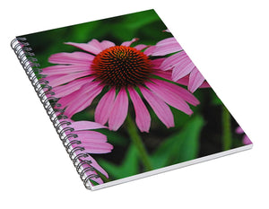 Purple Cone Flowers - Spiral Notebook - expressive-flower-art-goods.myshopify.com