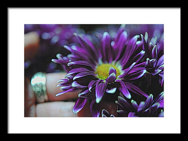 Purple Flower By Hand - Framed Print - expressive-flower-art-goods.myshopify.com