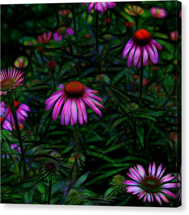 Purple Flower Garden - Canvas Print