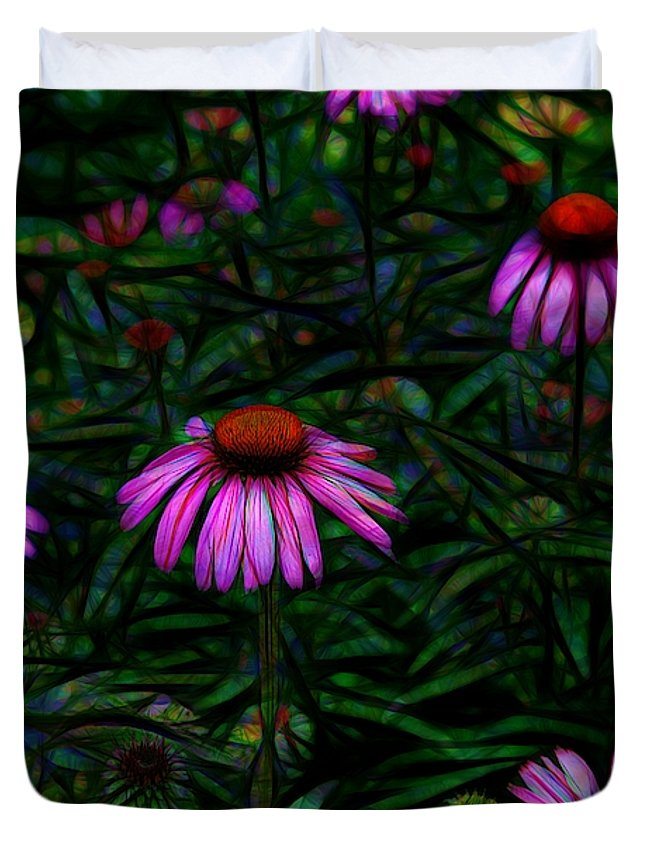 Purple Flower Garden - Duvet Cover - expressive-flower-art-goods.myshopify.com