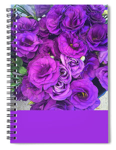 Purple Lisianthus Flowers - Spiral Notebook