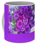Purple Lisianthus Flowers - Mug