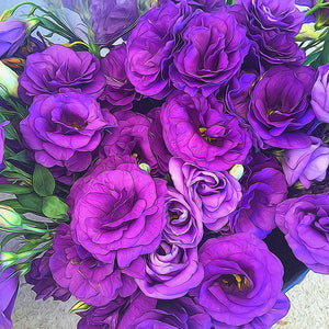Purple Lisianthus Flowers - Art Print