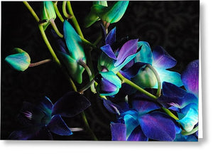 Purple Orchid Buds - Greeting Card