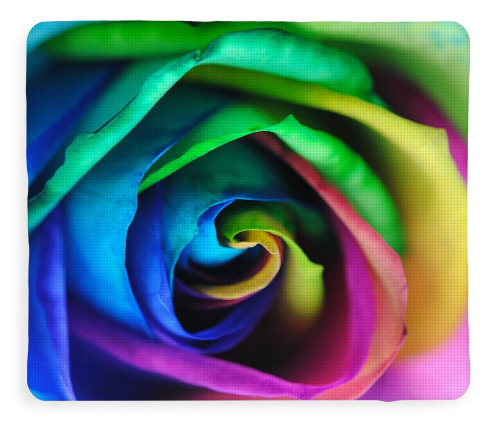 Rainbow Rose 17 - Blanket