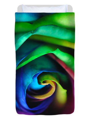 Rainbow Rose 17 - Duvet Cover